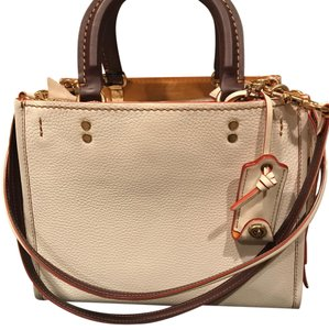 Coach Satchel in Chalk with brass trim