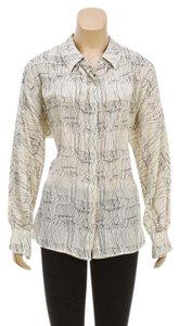 Kelly Weastler Button Down Shirt Beige