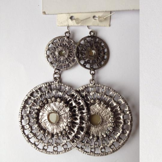 BCBGeneration bohemian antique silver color earrings Image 1