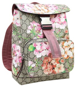 7a07133b1132 Gucci Gg Blooms Floral Pink Canvas Backpack - Tradesy