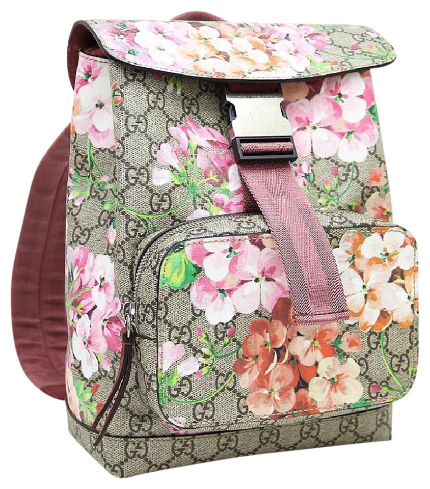 Gucci Gg Blooms Floral Pink Canvas Backpack - Tradesy 33f7324da4c03