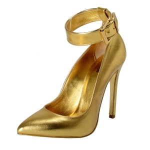 Just Cavalli Gold Pumps