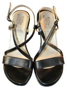 Spring Step Italian Leather Black Sandals