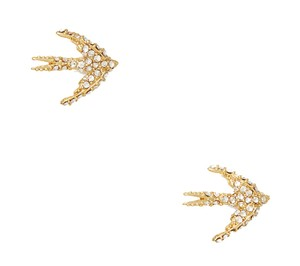 Kate Spade Kate Spade cold comforts birds studs Gold-tone