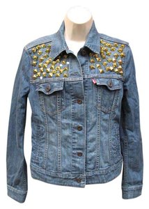 Levi's Embellished Denim San Francisco Womens Jean Jacket