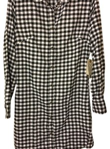 JACHS JACHS Manufacturing Co. Flannel Black White Shirt Dress SMALL