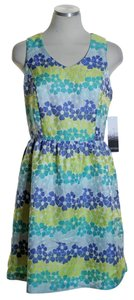 Kensie short dress Blue Green Yellow Sleeveless Floral on Tradesy