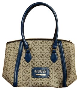 Guess Satchel in Blue and gray