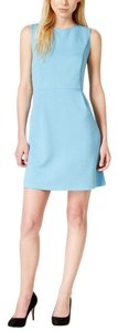 Kensie short dress Topaz Blue Textured Animal Print Sleeveless A-line Knit on Tradesy