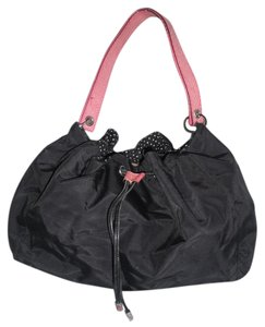 Kate Spade Drawstring Pink Snakeskin Nylon Hobo Shoulder Bag