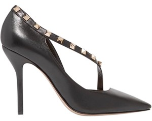 Valentino Rockstud D'orsay Leather black, nude Pumps