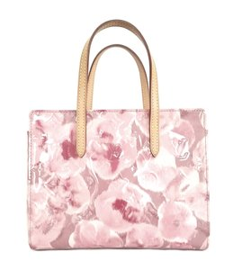 Louis Vuitton Catalina Bb Limited Edition Floral Vernis Tote in pink