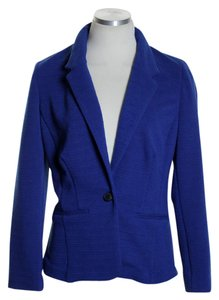 Kensie Knit Long Sleeve Royal Blue Blazer