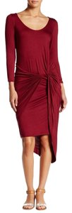 Burgundy Maxi Dress by The Vanity Chic