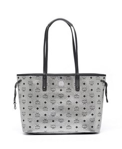 MCM Liz Medium Large Tote in Silver