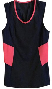 Lululemon Wear Cute Flattering Superb Fabric Top Navy, black and bright coral
