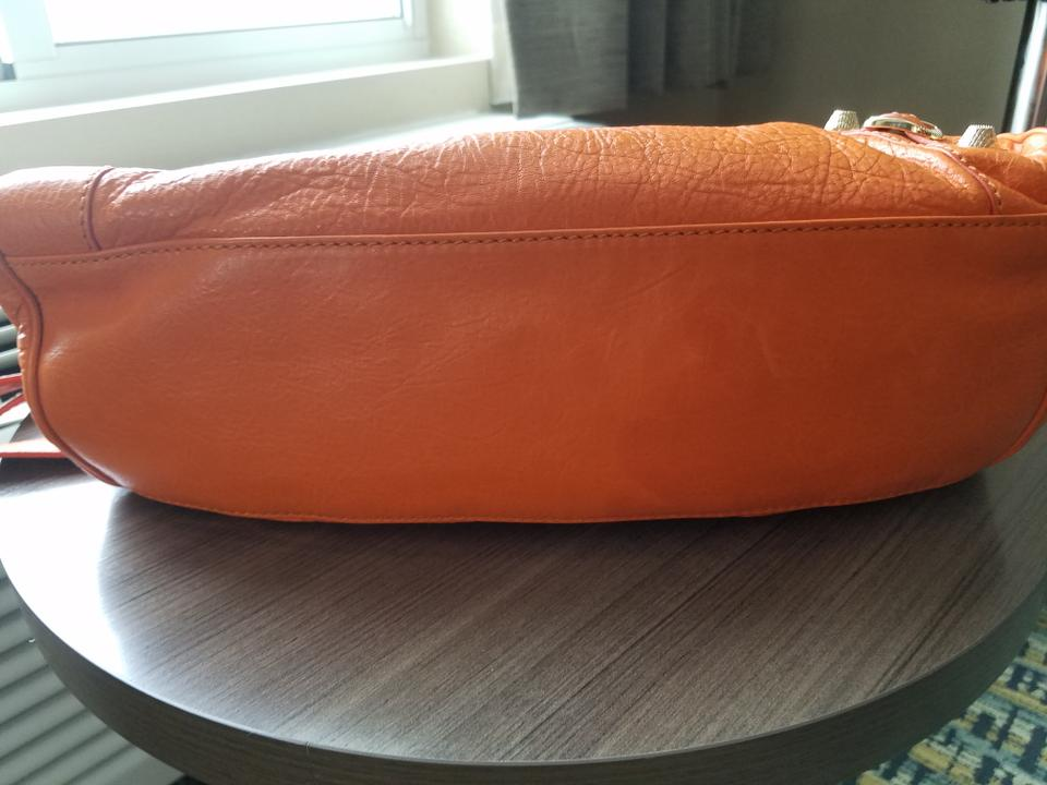 f2aa50f33622 Balenciaga Leather Classic Work Tote in Orange Tangerine Tange. 12345