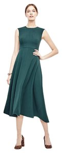 Ann Taylor Crepe Midi 00 Dress