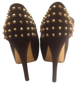 Forever 21 black and gold Platforms