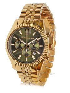 Michael Kors NEW MENS MICHAEL KORS (MK8446) OVERSIZED LEXINGTON GOLD GREEN WATCH