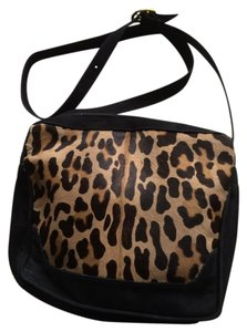 Donald J. Pliner Animal Print Calf Hair Cross Body Bag