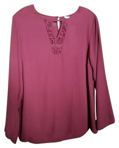 Collective Concepts Lace Top Burgundy