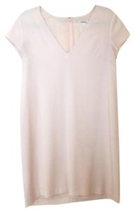Aritzia Crepe V-neck Shift Shift Blush Dress