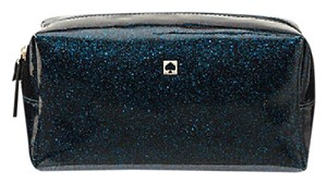 Kate Spade Mavis Street Medium Davie Cosmetic Case WLRU2369 Sparkling Midnight ENDS