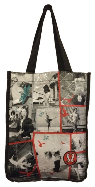 Item - Bag Has Various Pics and Motivational Quotes.very Cute and Unique Retail Black/Multi-colored Cotton Tote