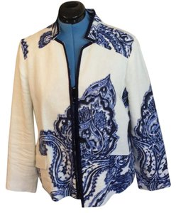 Chico's blue and white Jacket
