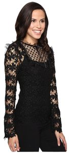 Romeo & Juliet Couture Lace Blouse & Size: Large Top Black