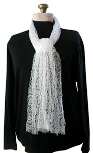 Other Off White Lace Porous Design Scarf