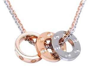 Cartier Cartier LOVE NECKLACE 18K Pink gold, white gold 6 DIAMONDS