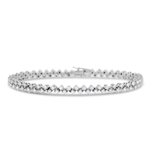 Other 3.50 Ct. Natural Superfine Diamond Bracelet In Solid 18k White Gold