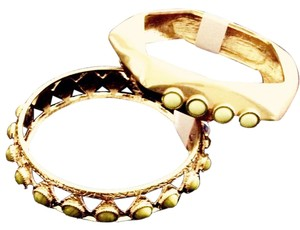 Lulu Frost Lulu Frost Bangle Bracelets with milky yellow stones