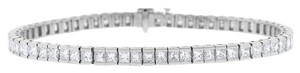 Other 6.81 Ct. Natural Superfine Diamond Princess Cut Tennis Bracelet In
