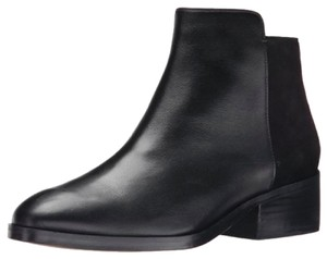 Cole Haan Heel Leather Ankle Suede Black Boots
