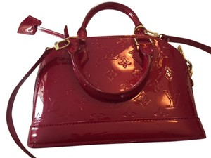 Louis Vuitton Vernis Leather Monogram Satchel in Cherry