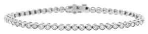 Other 2.20 Ct. Natural Diamond Bezel Set Filigree Design Tennis Bracelet 14k