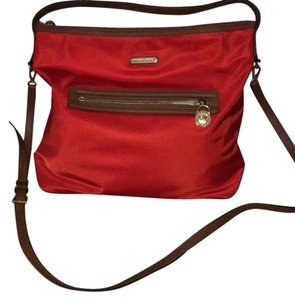 Michael Kors Tote in Fun color..Tangerine with leather trim.