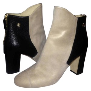 Chanel Cc Two Tone Beige/Black Boots