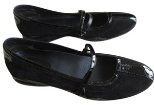 Cole Haan Suede Patent Leather Black Flats