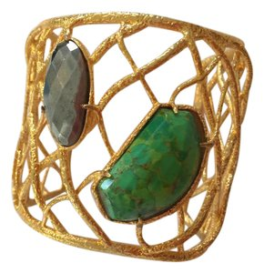 Alexis Bittar Honeycomb cuff with stones