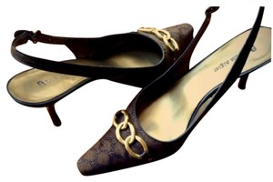 Etienne Aigner Brown/Gold Pumps