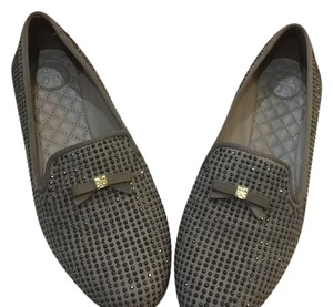 Tory Burch dust storm gray Flats