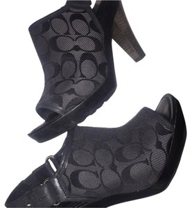 Coach Black & dark charcoal grey Mules