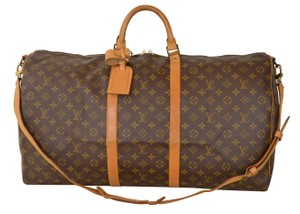 Louis Vuitton Lv Keepall 60 Lv Bandouliere 60 Brown Travel Bag