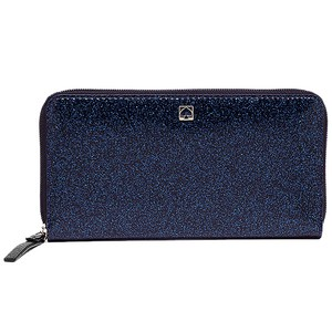 Kate Spade Mavis Street Neda Continental Zip Wallet Glitter Blue BIG SALE