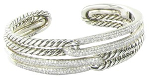 David Yurman David Yurman Labyrinth Bracelet Double Loop 2.17cts Diamonds Sterling