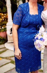 David's Bridal Royal Blue 1900 Dress